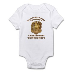 DHS Terrorist Infant Bodysuit