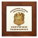 DHS Terrorist Framed Tile