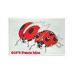 Ladybugs Rectangle Magnet (10 pack)