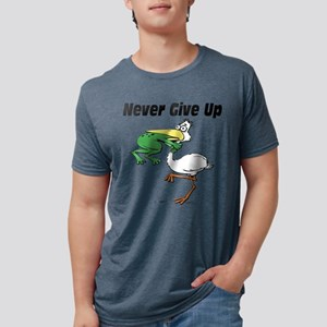 Never Give Up Stork and Frog T-Shirt