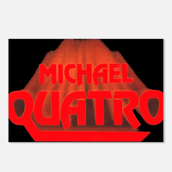 Red Quatro Postcards (Package of 8)