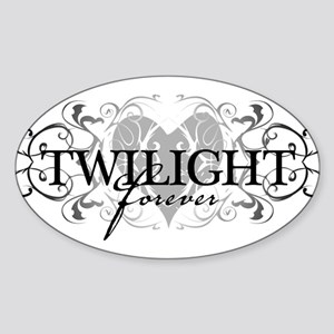 Twilight Forever Oval Sticker