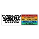 Homeland Insults Bumper Sticker