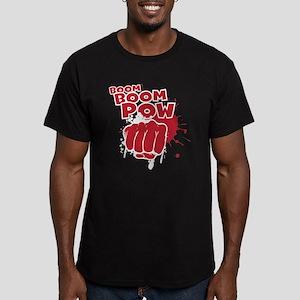 Boom Boom Pow Men's Fitted T-Shirt (dark)