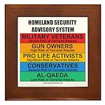 Homeland Insults Framed Tile