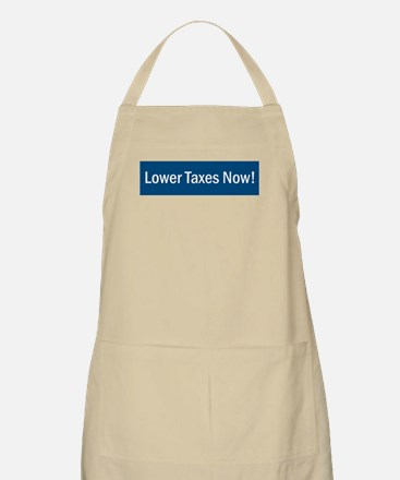 Lower Taxes Now BBQ Apron