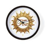 Fox Den Wall Clock