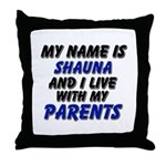 my name is shauna and I live with my parents Throw