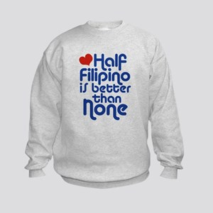 Half Filipino Kids Sweatshirt