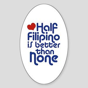 Half Filipino Oval Sticker