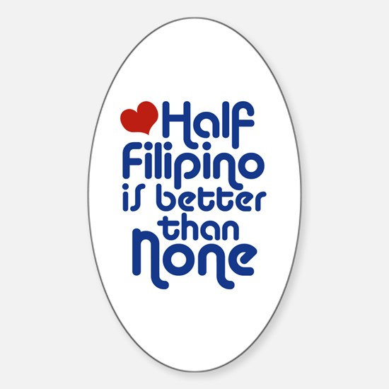 Half Filipino Oval Decal