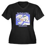 The World of Women's Plus Size V-Neck Dark T-Shirt