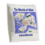 The World of Siliar Burlap Throw Pillow