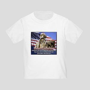 Thomas Jefferson quotes Toddler T-Shirt