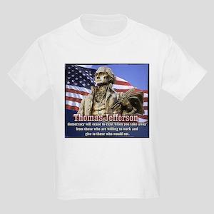 Thomas Jefferson quotes Kids Light T-Shirt