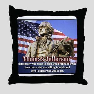 Thomas Jefferson quotes Throw Pillow