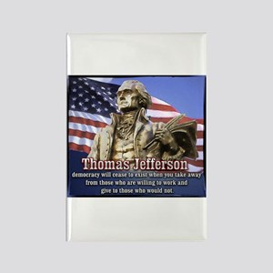 Thomas Jefferson quotes Rectangle Magnet