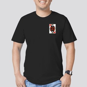 King of Hearts Men's Fitted T-Shirt (dark)