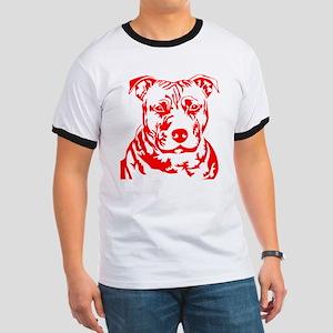 PIT BULL HEAD RED T-Shirt