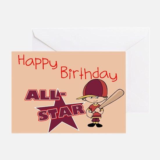All Star Birthday Greeting Card