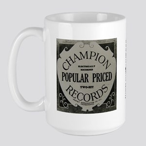 Champion Records Large Mug