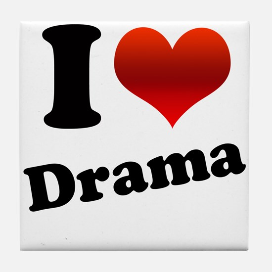 I Heart (love) Drama Tile Coaster