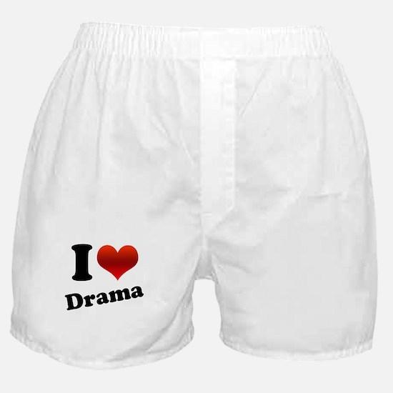 I Heart (love) Drama Boxer Shorts