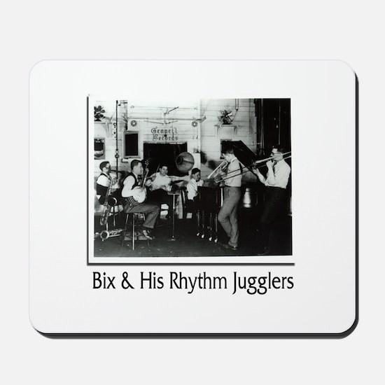 Bix Beiderbecke and His Rhythm Jugglers Mousepad