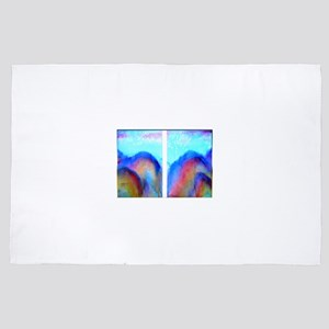 Colorful landscape art 4' x 6' Rug