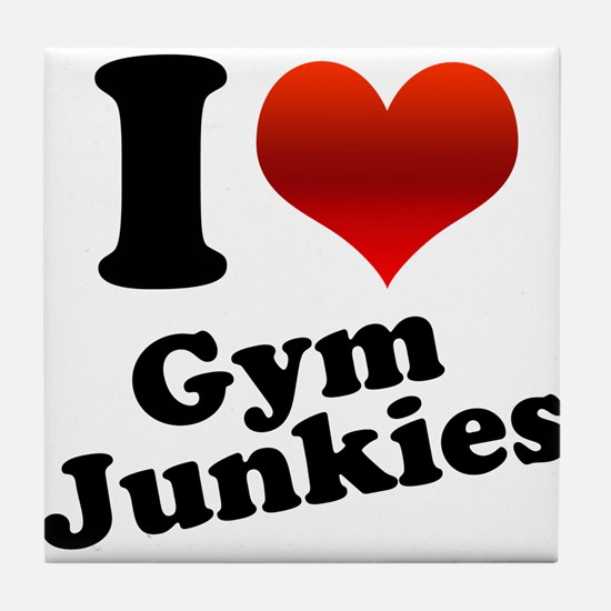 I Heart Gym Junkies Tile Coaster