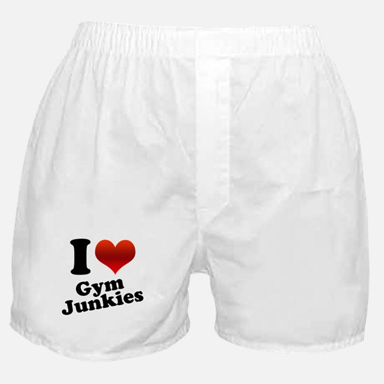 I Heart Gym Junkies Boxer Shorts