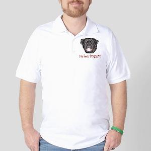 Black Pugged Golf Shirt