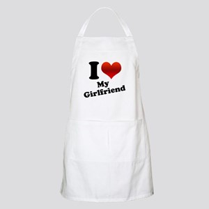 I Heart My Girlfriend BBQ Apron