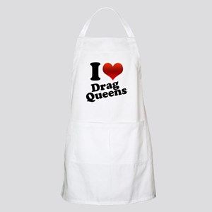 I Heart (Love) Drag Queens BBQ Apron