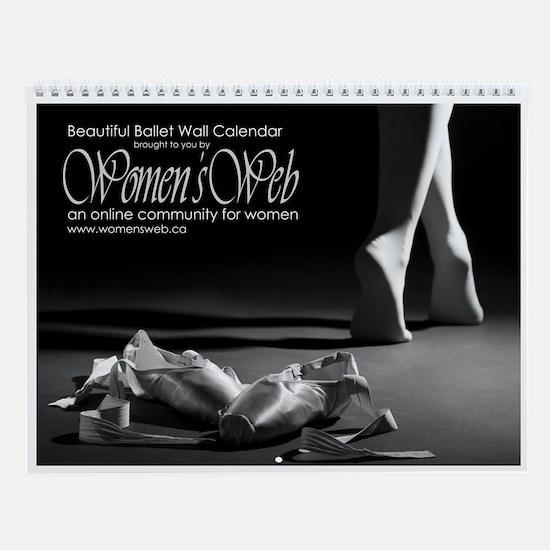 Women's Web Beautiful Ballet Wall Calendar