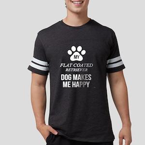 My Flat Coated Retriever Makes Me Happy T-Shirt