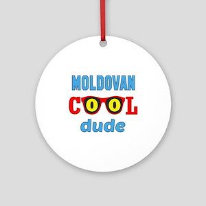 Moldovan Cool Dude Round Ornament