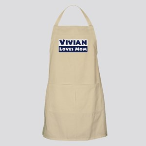 Vivian Loves Mom BBQ Apron