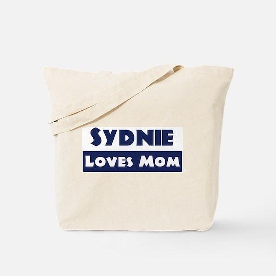 Sydnie Loves Mom Tote Bag