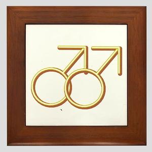 """""""Double Male"""" Framed Tile"""