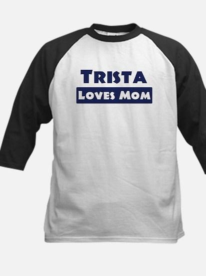 Trista Loves Mom Kids Baseball Jersey