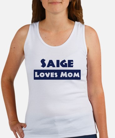 Saige Loves Mom Women's Tank Top