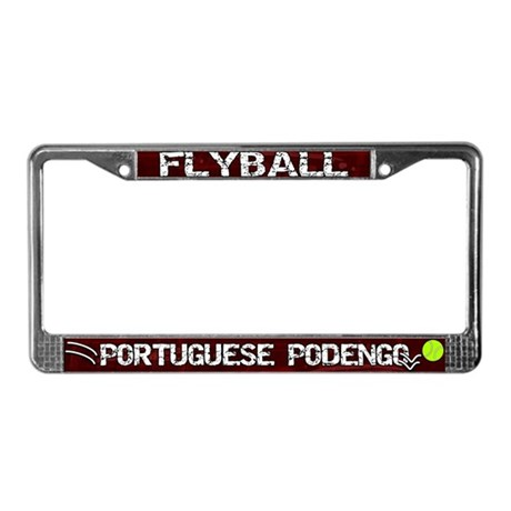 Flyball Portuguese Podengo License Plate Frame