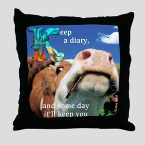 Keep a Diary Throw Pillow