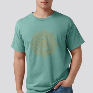 Gold Glitter Floral Mandala Design T-Shirt