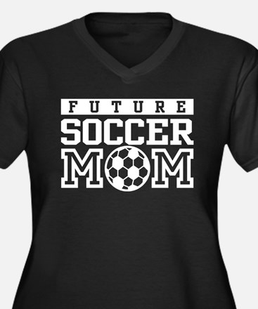 Future Soccer Mom Women's Plus Size V-Neck Dark T-