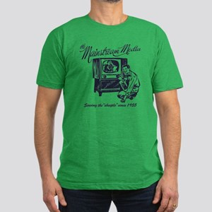 The Mainstream Media Men's Fitted T-Shirt (dark)