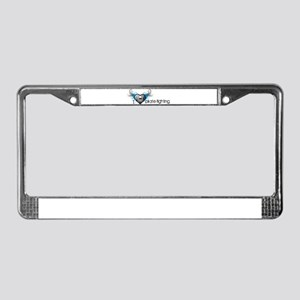 I love pirate fighting License Plate Frame