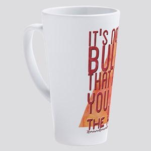 It's not the bullet that kills you 17 oz Latte Mug