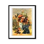 Vase / Scottie (blk) Framed Panel Print